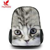 Mochila linda de la escuela del gato del morral del bolso de hombro de la taleguilla del recorrido de la lona de la manera