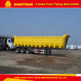 Ribaltatore del camion di Sinotruk 60tons/del deposito 3 assi rimorchio semi
