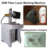 máquina da marcação do laser da fibra da fonte de laser de 20W Raycus para a caixa do telemóvel