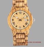 De houten Gift van Kerstmis van het Horloge van het Kwarts van het Horloge van de Tendens van het Polshorloge van de Mensen van Ambachten Europese