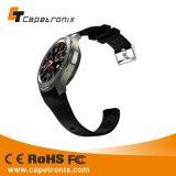 歩数計の腕時計の電話サポートSIMカードのWiFiのスマートな腕時計が付いている2016最も売れ行きの良い腕時計