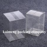 Quadrado de venda quente que dobra a caixa de embalagem desobstruída plástica para o pacote do bolo (caixa de embalagem)