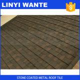 Mattonelle di tetto rivestite di pietra del metallo fatte in Cina