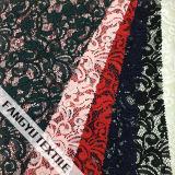 2016 최신 디자인 꽃잎 패턴 면 나일론 레이스 직물