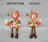 Счастливый мальчик & девушка Fox джута украшения дома хлебоуборки