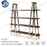 Fabrik-Zubehör-Qualitäts-Metallbücherregal mit festem Holz