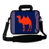 Saco do portátil da luva do caderno da bolsa do saco do mensageiro do projeto do camelo com polegada escondida 15.6 do neopreno 17 do punho 14 14.1 13 13.6 12