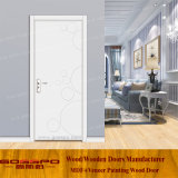 Дверь кухни меламина 2017 конструкций белая (GSP12-028)