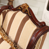 고대 직물 소파 거실을%s 목제 프레임을%s 가진 미국 고아한 소파 팔 의자