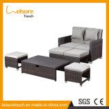 Königliche Garten-Patio-im Freienmöbel-faules Rattan-Sofa-Set