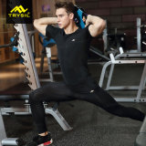 Mens 형식 스포츠 Legging 캐주얼 셔츠 압축 착용