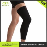 Sports Respirável Elastic Knitted Long Joelho Compression Sleeve