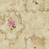 papier peint décoratif de la fleur 3D à vendre le papier peint de PVC