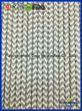 Paille de papier grise de Chevron de décoration d'usager