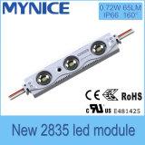 Módulo econômico do diodo emissor de luz de UL/Ce/RoHS para o sinal 0.72W/PC, brilho elevado 5 anos de garantia