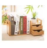 Étagère de livre en bambou, crémaillères de livre en bambou
