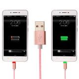 кабель USB заряжателя данным по V8 светлого металла 1m СИД Braided микро-