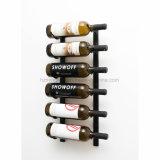 Crémaillère fixée au mur d'aménagement de vin d'étalage de mémoire en métal
