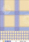 Mantel impreso plástico del PVC de la dimensión de una variable redonda con el forro no tejido de la franela