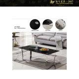 Metal da mesa de centro do custo da mesa de centro e vidro (YF-170076T)