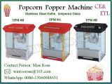 De in het groot Machine van de Popcornpan van het Roestvrij staal van de Fabrikant met Ce&ETL