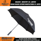 зонтик гольфа стеклоткани черноты Pongee 27inch прямой