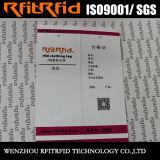 Étiquette passive d'IDENTIFICATION RF de collant de couleur de la fréquence ultra-haute 860-960MHz pour le vêtement