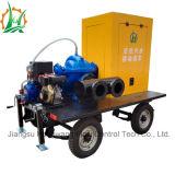 Bomba al vacío montada acoplado diesel de la irrigación de la succión doble