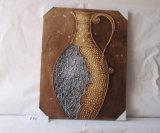 ein fantastischer Vase mit einem schön verzierten Segeltuch