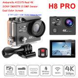 Les derniers réellement 4k imperméabilisent appareil-photo sans fil d'action de montre de WiFi de la caméra vidéo 360vr Ambarella A12 Imx078 de l'appareil-photo H8r de sport le PRO