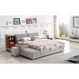 Korea-Art-modernes echtes Leder-Sofa-Bett für Wohnzimmer-Möbel - Fb8040A