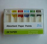 Punta de papel absorbente de la alta calidad para el material dental