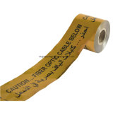 Nachweisbares Tiefbauvorsicht-Band verwendet für Rohr-Kabel-WARNING