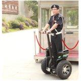 警戒斥候のための自動電気一人乗り二輪馬車の電気スクーター2の車輪の情報処理機能をもった巡航
