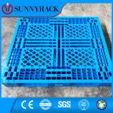 haltbare einzelne seitliche Ineinander greifen-Oberflächen-Plastikladeplatte des Eintrag-4-Way für Ladeplatten-Racking