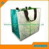Bolso reutilizable de los PP para hacer compras con la impresión de la pantalla de seda