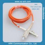 Cable de fibra óptica corto del plazo de ejecución