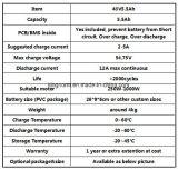 Bloco feito-à-medida da bateria de 48V 5ah LiFePO4 para a motocicleta elétrica