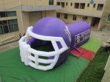 O capacete de futebol inflável barato ostenta túneis
