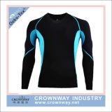 長い袖の人のスポーツの適性の摩耗の圧縮のワイシャツの基層