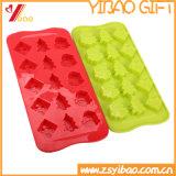 Molde del chocolate del silicón del molde de la torta del silicón de la dimensión de una variable de los árboles de navidad/molde del hielo del silicón