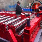 Presse automatique de tuile pour le roulis en acier de Double couche de panneau de mur de toit formant la machine