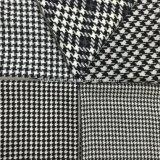 5 tipos de tela de lana de Houndstooth negro y blanco
