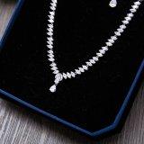 新しいデザイン銀のラインストーンの方法ネックレスのイヤリング
