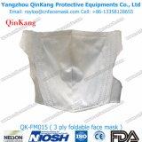 Masque pliable de protection respiratoire de masque de poussière Ffp1 de la CE