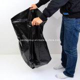 Saco de lixo amigável do preto do HDPE de Eco
