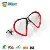 Professionele Aangemaakte het Duiken van het Glas Masker en Beschermende brillen voor Kinderen