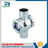Dn40 vetro di vista igienico sanitario della traversa del sindacato dell'acciaio inossidabile Ss304 Ss316L