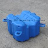 Boots-Laufwerk auf blauem Würfel des Plastiku