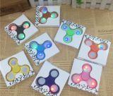 2017 최고 승진 다채로운 LED 섬광 싱숭생숭함 방적공 손 방적공